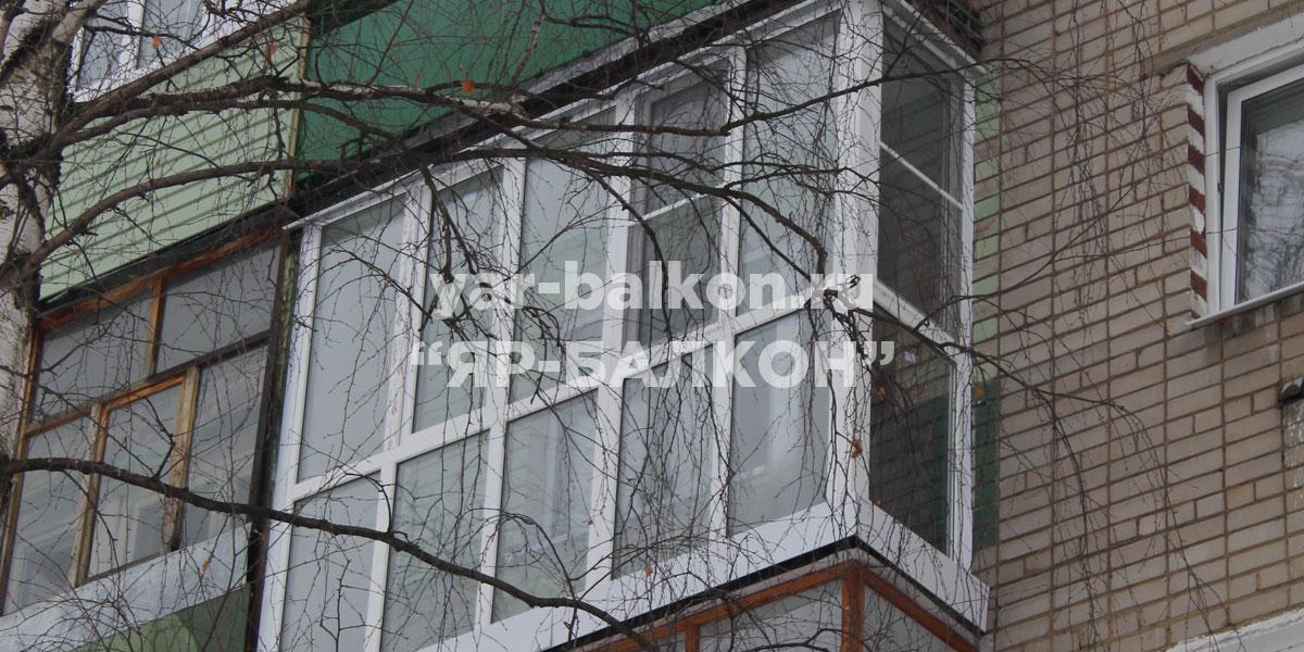 Панорамное остекление балконов в Ярославле - французский бал.